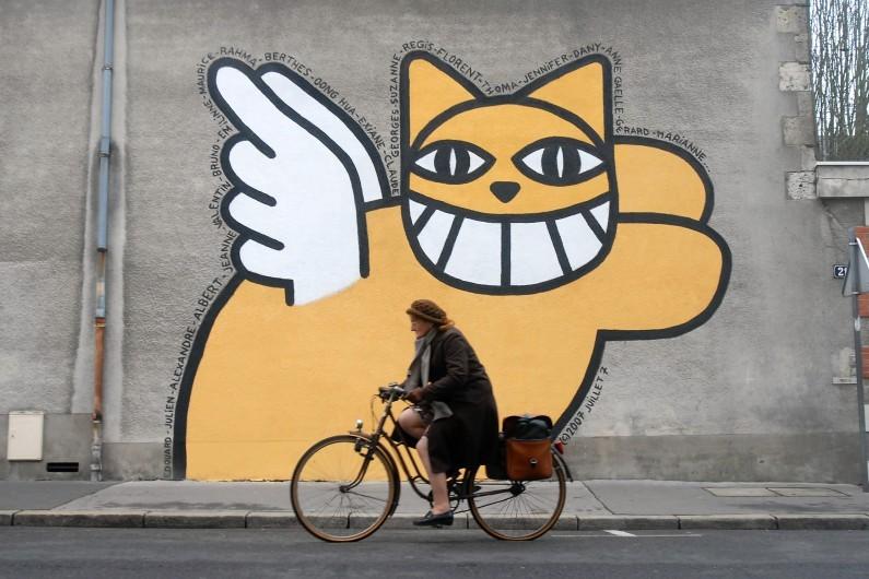 Street art Orléans : M.CHAT